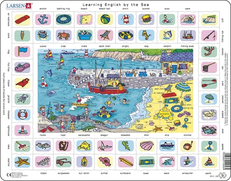 Pussel - English Learning puzzle 3 – By the sea