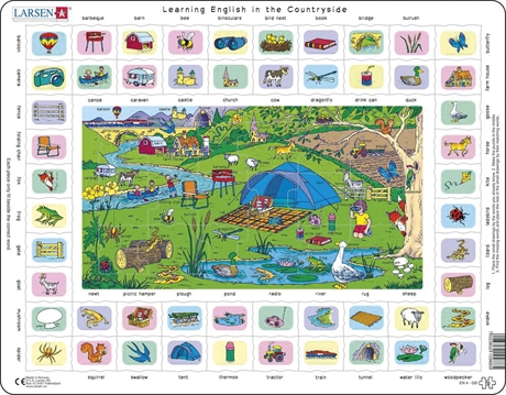Pussel - English Learning puzzle 4 – In the countryside
