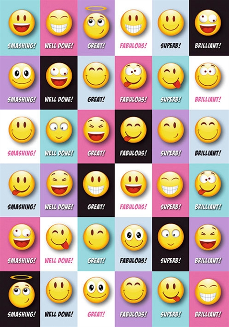 Stickers English Happy Face