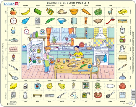 Pussel - English Learning puzzle 1